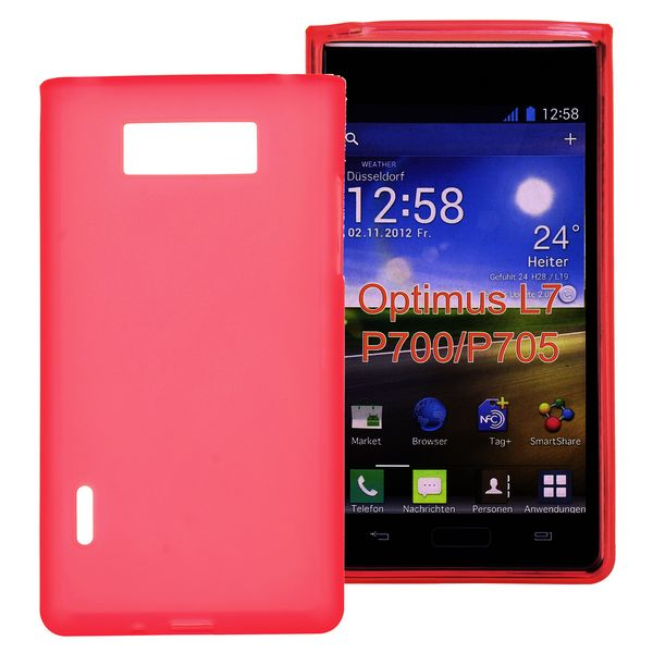 Mjukt & Frostat (Rött) LG Optimus L7 Silikonskal