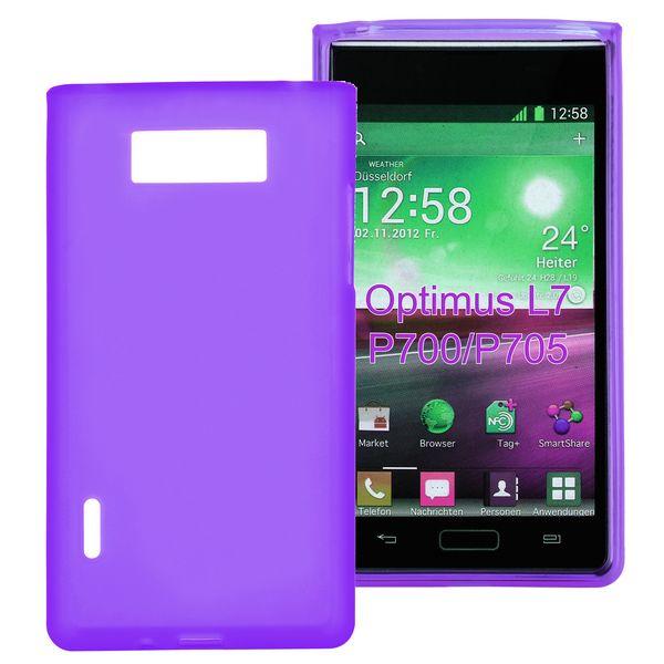 Mjukt & Frostat (Lila) LG Optimus L7 Silikonskal