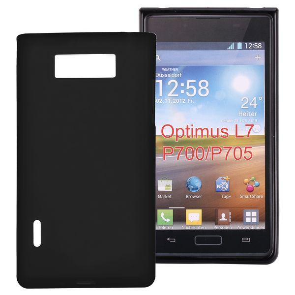 Mjukt & Frostat (Svart) LG Optimus L7 Silikonskal