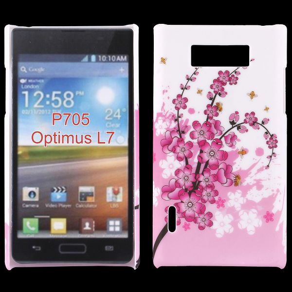 Valentine (Rosa Blomma) LG Optimus L7 Skal