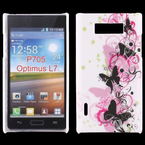 Valentine (Svarta Fjärilar) LG Optimus L7 Skal