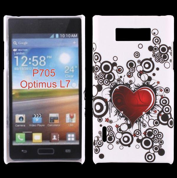 Valentine (Rött Hjärta) LG Optimus L7 Skal