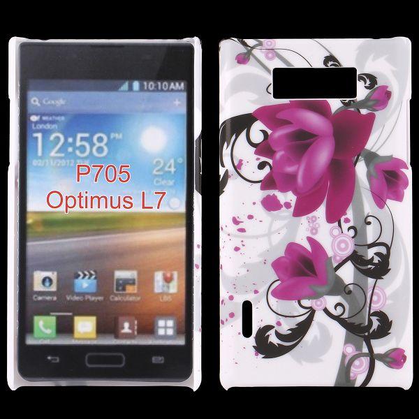Valentine (Lila Blomma) LG Optimus L7 Skal