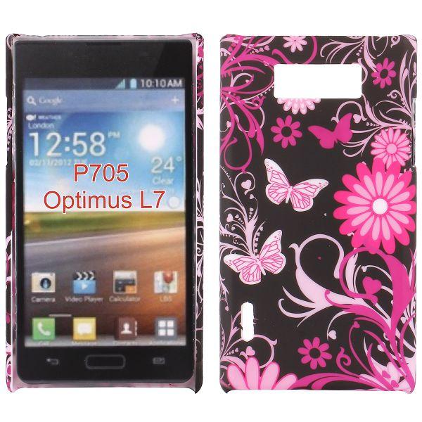 Valentine (Rosa Fjärilar) LG Optimus L7 Skal
