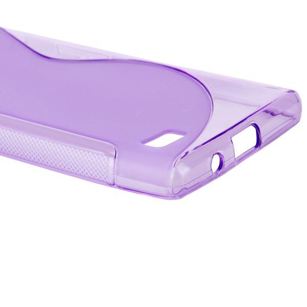 S-Line Transparent (Lila) LG Optimus L9 Skal