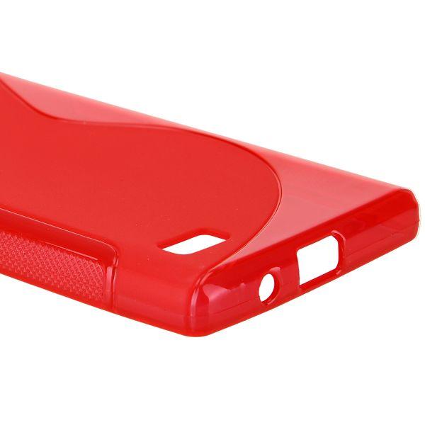 S-Line Transparent (Röd) LG Optimus L9 Skal