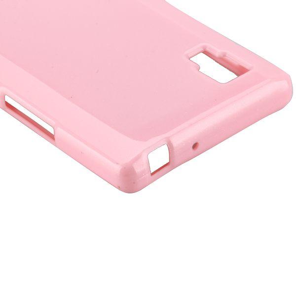Glitter Shell (Ljusrosa) LG Optimus L9 Skal