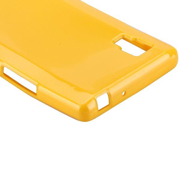 Glitter Shell (Gul) LG Optimus L9 Skal