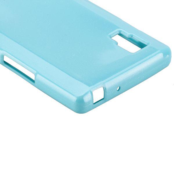 Glitter Shell (Ljusblå) LG Optimus L9 Skal
