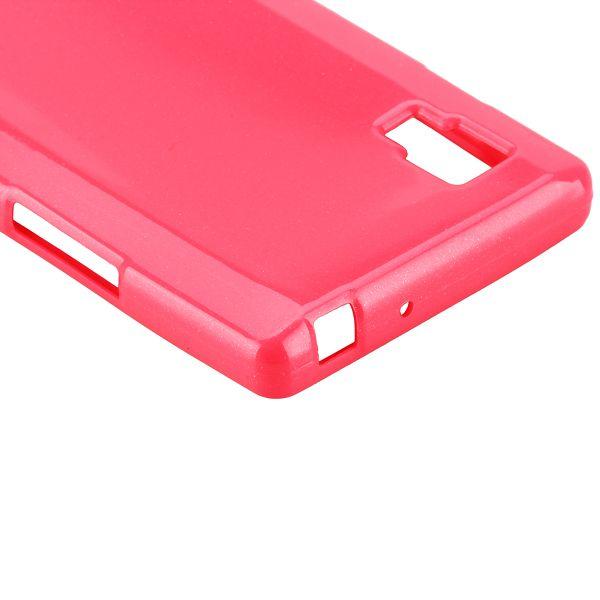 Glitter Shell (Het Rosa) LG Optimus L9 Skal