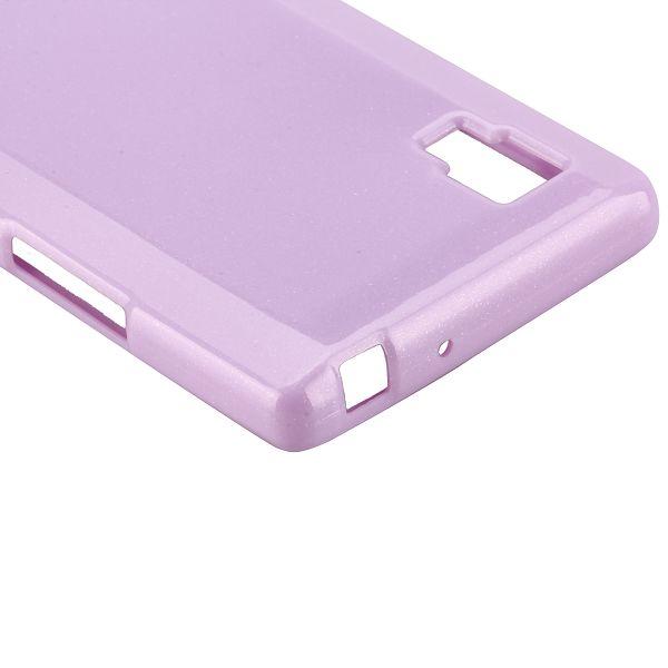 Glitter Shell (Lila) LG Optimus L9 Skal
