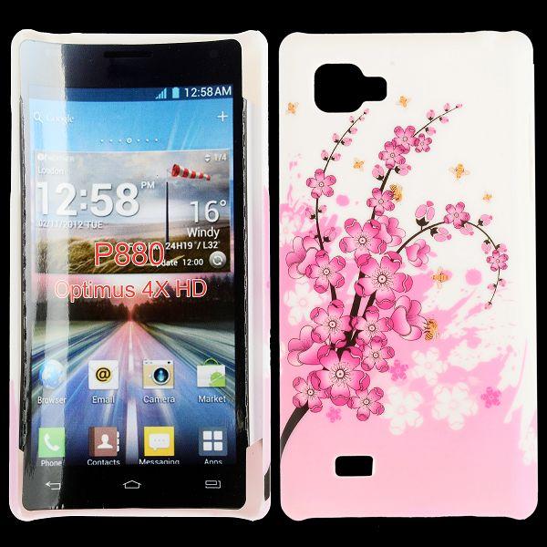 Valentine (Rosa Blommande Gren) LG Optimus 4X HD Skal