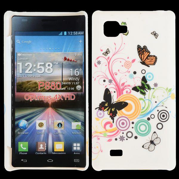 Valentine (Blandade Cirklar & Fjärilar) LG Optimus 4X HD Skal