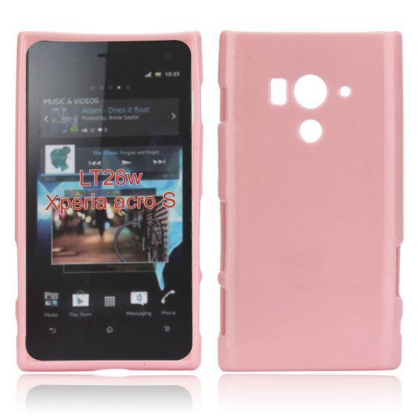 Glitter Shell (Ljusrosa) Sony Xperia Acro S Skal