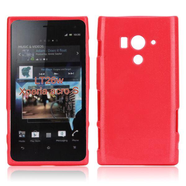 Glitter Shell (Röd) Sony Xperia Acro S Skal