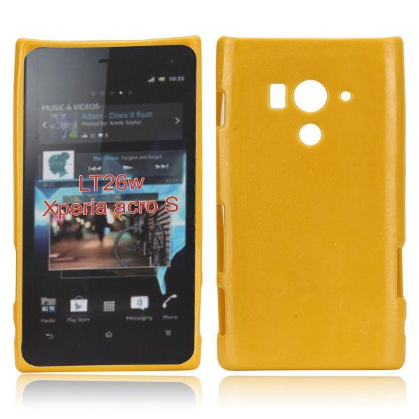 Glitter Shell (Gul) Sony Xperia Acro S Skal