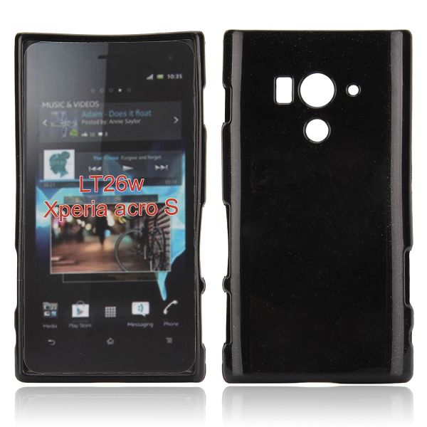 Glitter Shell (Svart) Sony Xperia Acro S Skal