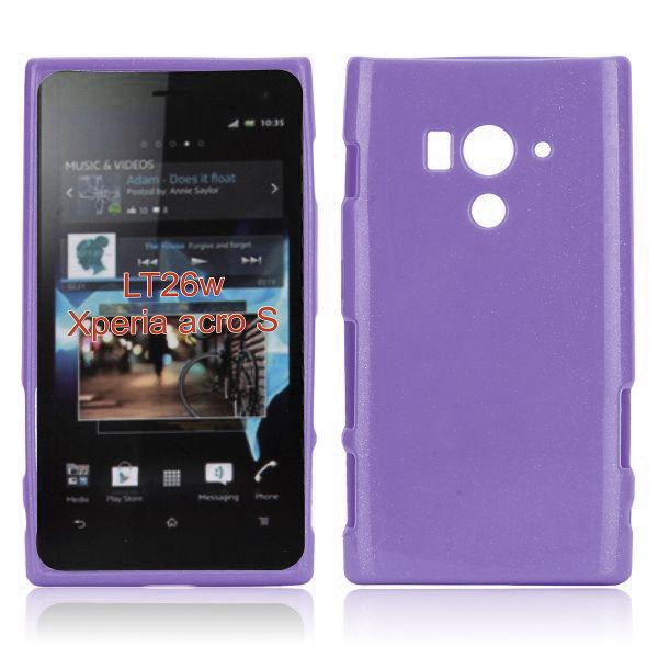 Glitter Shell (Lila) Sony Xperia Acro S Skal