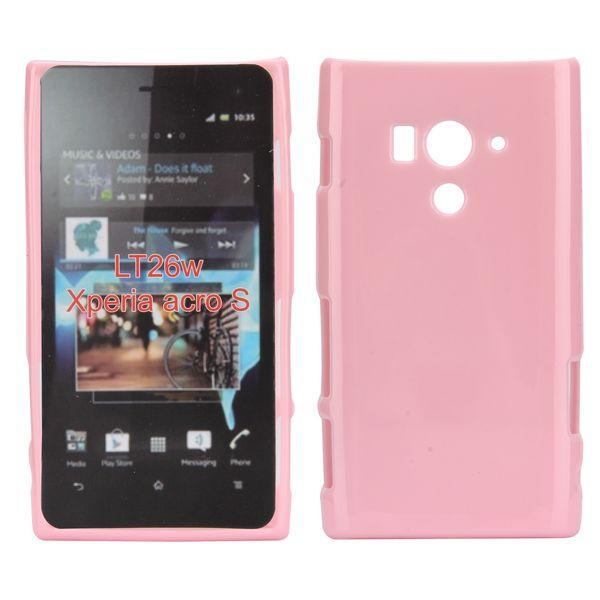 Candy Shell (Ljusrosa) Sony Xperia Acro S Skal