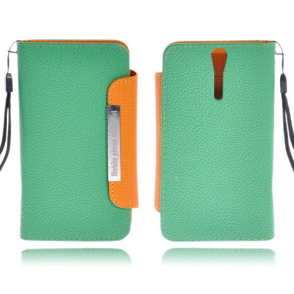 Amecs Läderfodral för Sony Xperia S (Grön)