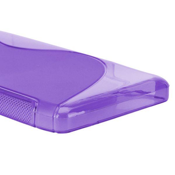 S-Line Transparent (Lila) Motorola DROID RAZR MAXX HD Skal