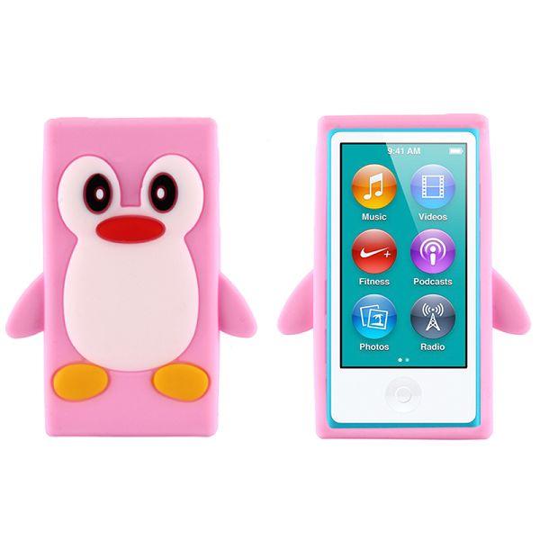 Happy Penguin (Ljusrosa) iPod Nano 7 Silikonskal