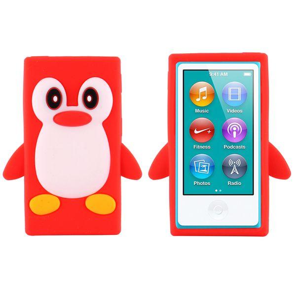 Happy Penguin (Röd) iPod Nano 7 Silikonskal