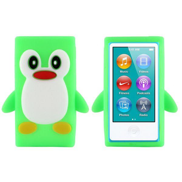 Happy Penguin (Ljusgrön) iPod Nano 7 Silikonskal