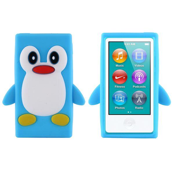 Happy Penguin (Ljusblå) iPod Nano 7 Silikonskal