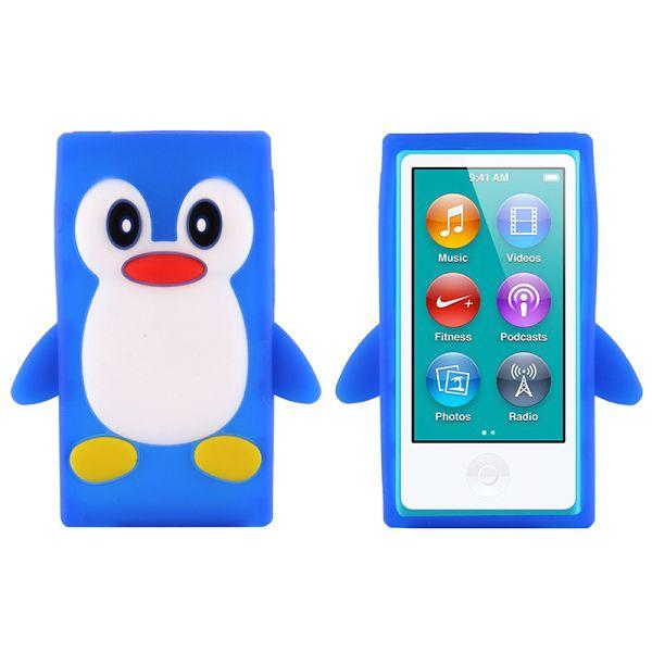 Happy Penguin (Blå) iPod Nano 7 Silikonskal