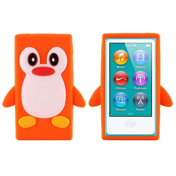 Happy Penguin (Orange) iPod Nano 7 Silikonskal