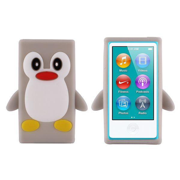 Happy Penguin (Grå) iPod Nano 7 Silikonskal