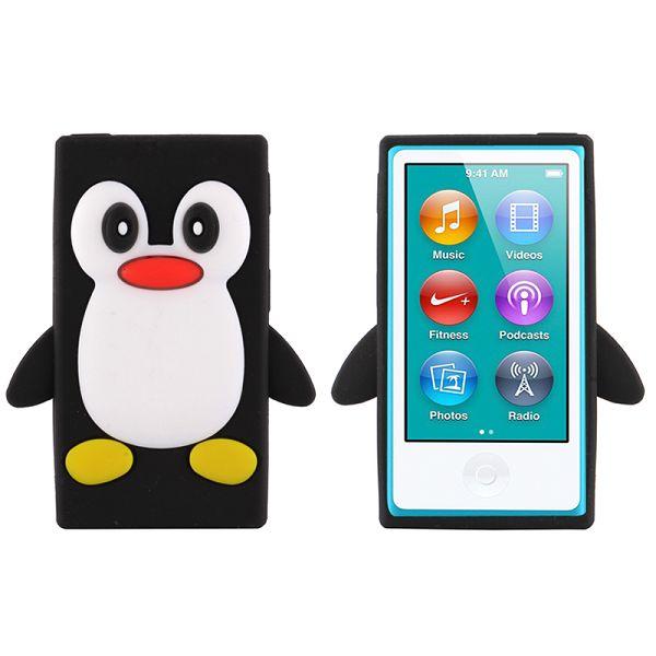 Happy Penguin (Svart) iPod Nano 7 Silikonskal