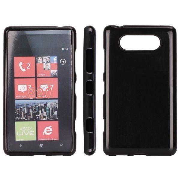 Mjukskal (Svart) Nokia Lumia 820 Skal