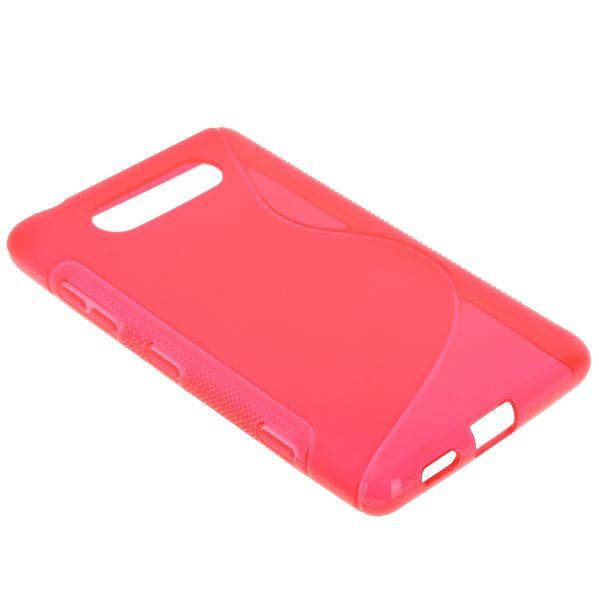 S-Line Transparent (Röd) Nokia Lumia 820 Skal