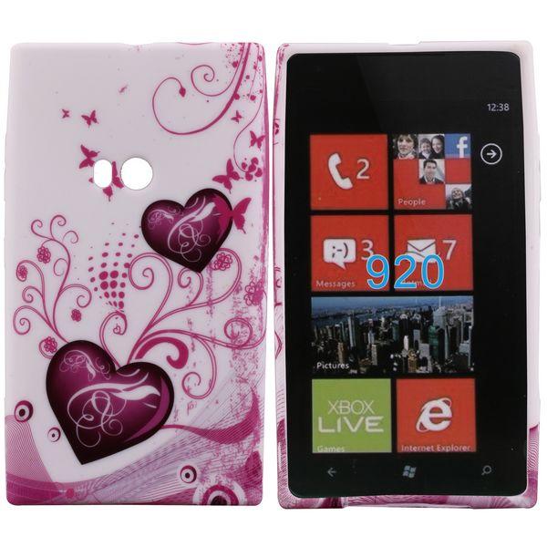 Symphony (2 Lila Hjärtan) Nokia Lumia 920 Skal