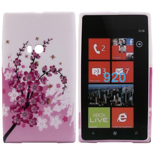 Symphony (Rosa Blomma) Nokia Lumia 920 Skal