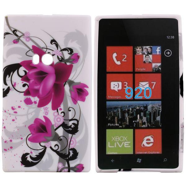 Symphony (Lila Blomma) Nokia Lumia 920 Skal
