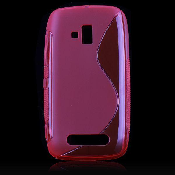 S-Line Transparent (Röd) Nokia Lumia 610 Skal