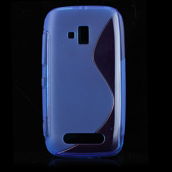 S-Line Transparent (Blå) Nokia Lumia 610 Skal