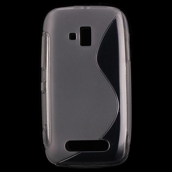 S-Line Transparent (Grå) Nokia Lumia 610 Skal