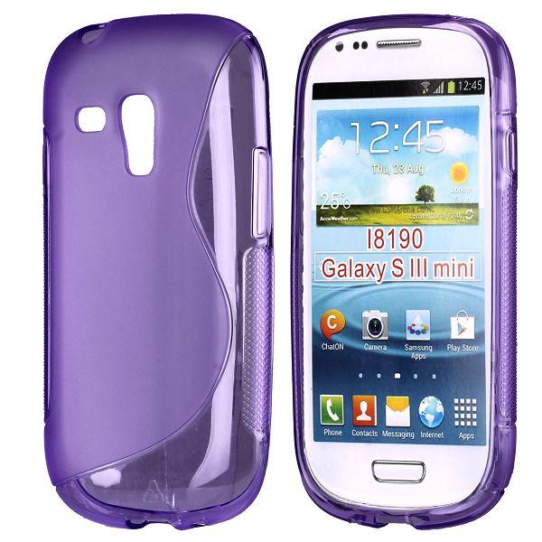 S-Line Transparent (Lila) Samsung Galaxy S3 Mini Skal