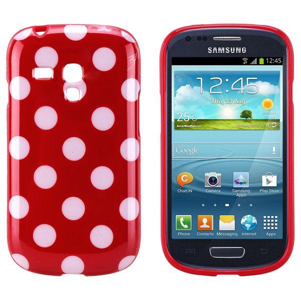Dots (Röd) Samsung Galaxy S3 Mini Silikonskal