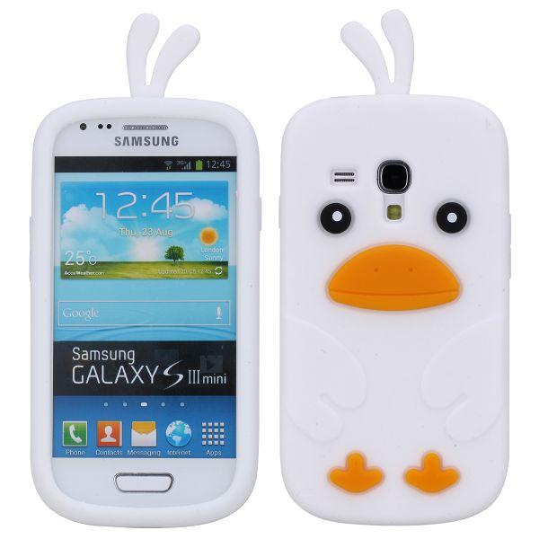 Happy Bird (Vit) Samsung Galaxy S3 Mini Skal