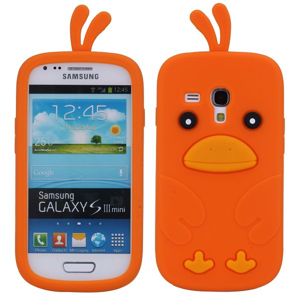 Happy Bird (Orange) Samsung Galaxy S3 Mini Skal