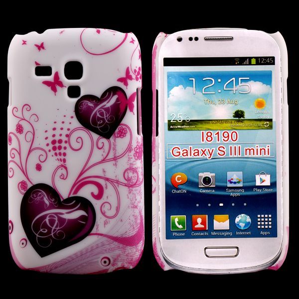 Valentine (2 Lila Hjärtan) Samsung Galaxy S3 Mini Skal