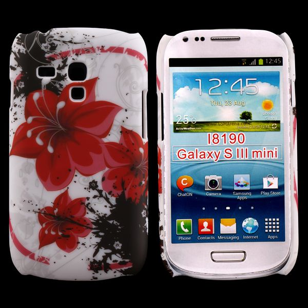 Valentine (3 Röda Blommor) Samsung Galaxy S3 Mini Skal