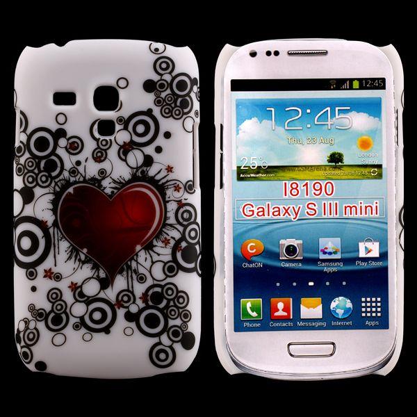 Valentine (Rött Hjärta – Svarta Cirklar) Samsung Galaxy S3 Mini Skal