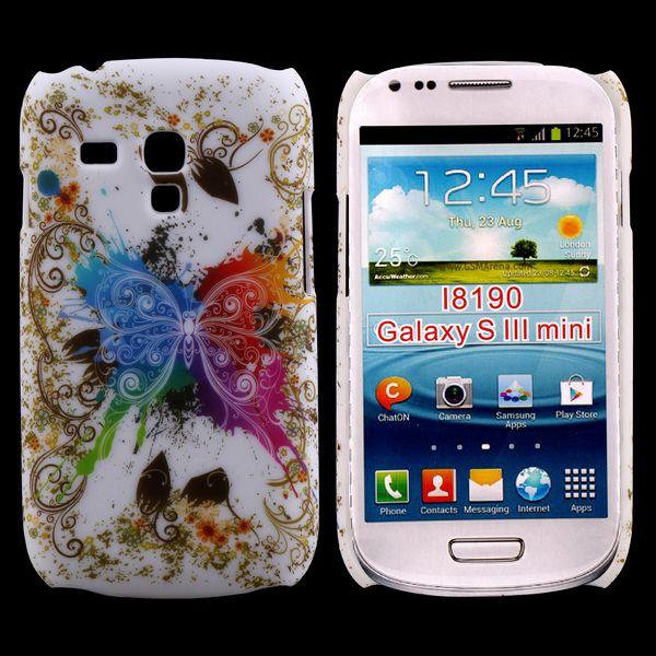 Valentine (Centrerad Regnbågsfjäril – Vit) Samsung Galaxy S3 Mini Skal