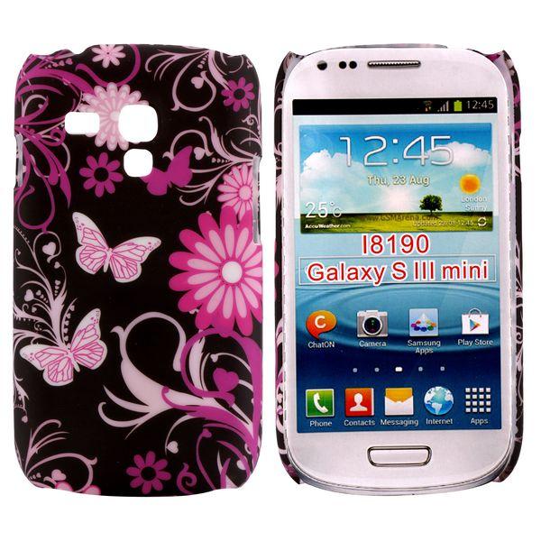 Valentine (Rosa Fjärilar) Samsung Galaxy S3 Mini Skal